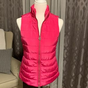 Michael Kors Hot Pink Puffy Vest